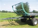 Oehler Zweiachs-Ballentransportwagen:      •  Bordwandgitter vorn + hinten klappbar     •  Großes Ladevolumen