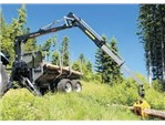 Soma Holzzange:    Die PALMS Kranserie ist speziell für den Einsatz in der Land- und Forstwirt