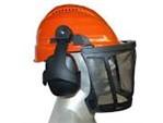 Forsthelm Rockman:   Kopfschutzkombination, auch für Profieinsatz geeignet.     Helm F4D oran