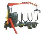 Oehler Holzrückewagen:      zul. Gesamtgewicht:  16 t     Achse:  robuste BPW Pendelachse mit g