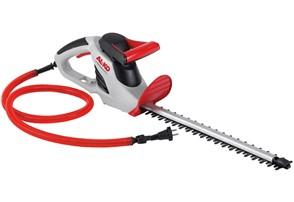 AL-KO HT 550 Safety Cut:   Robustes Gehäuse. Safety Kabel. Diamantgeschliffene Messer. Integrierte Wass
