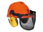 Forsthelm Peltor:   Kopfschutzkombination, auch für Profieinsatz geeignet.  Der Helm ist aus Ku