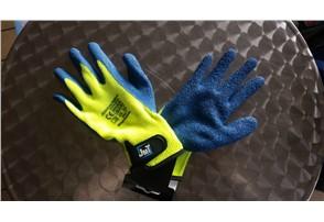 John McTerry® Arbeitshandschuh Winter Premium; Größe: 10:   Latexbeschichtung  Klettverschluss  EN 388  EN511