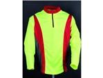 T-Shirt - COOLMAX® - Pro langarm:    Langarm Shirt mit Stehkragen  • Transportiert die Feuchtigkeit vom Körper